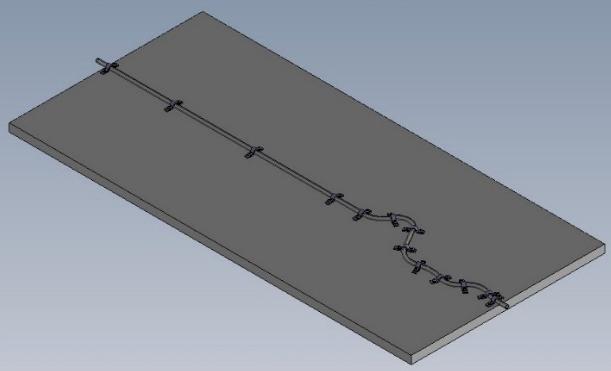 ガイドワイヤー伝達特性測定機の測定テンプレート