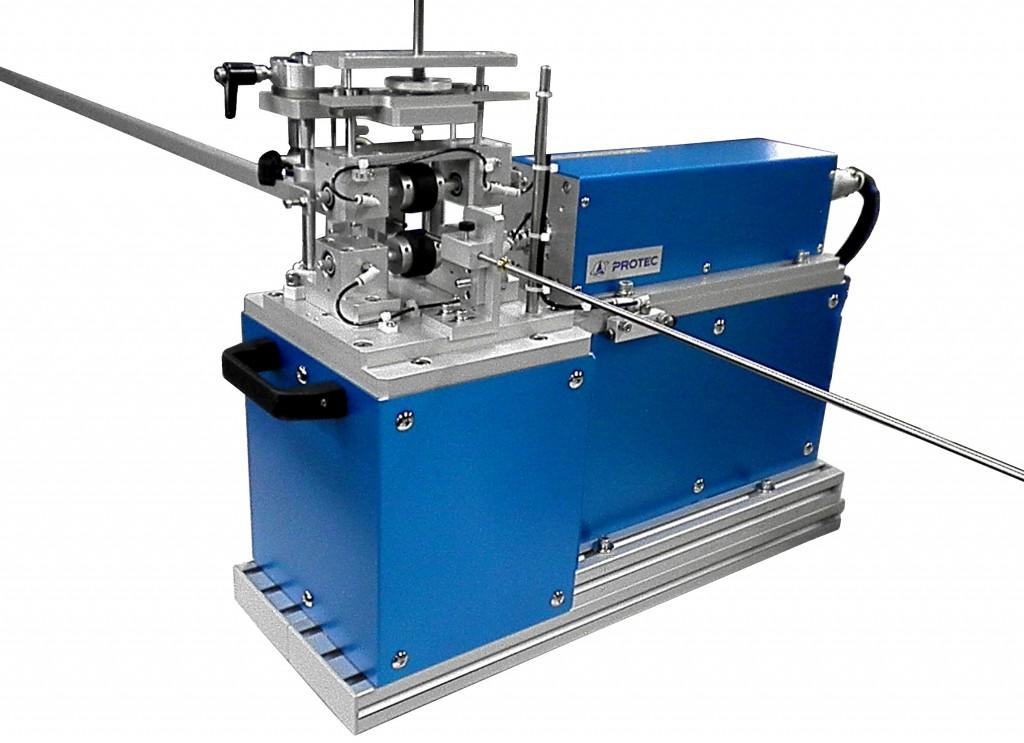 ガイドワイヤー伝達特性測定機の装置応用例_ガイドワイヤー及びカテ―テルの摺動応力測定機