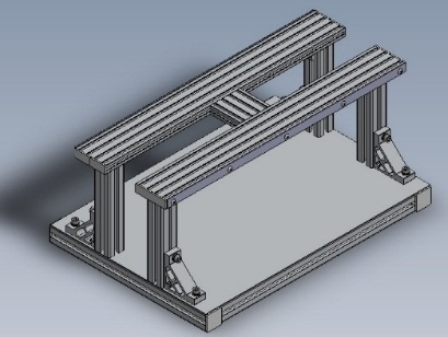 ガイドワイヤー伝達特性測定機の測定架台