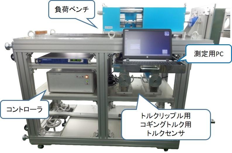 温湿度環境対応モータトルク総合測定機の装置外観図
