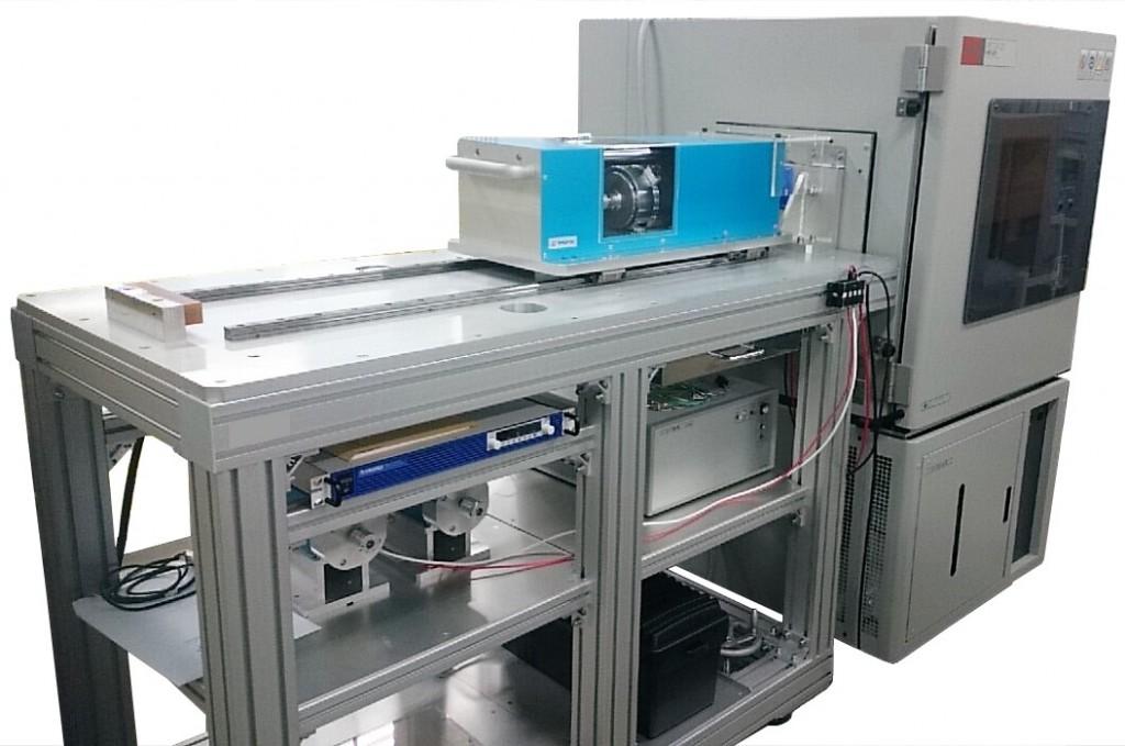 温湿度環境対応モータトルク総合測定機_負荷ベンチと恒温恒湿槽のセット例
