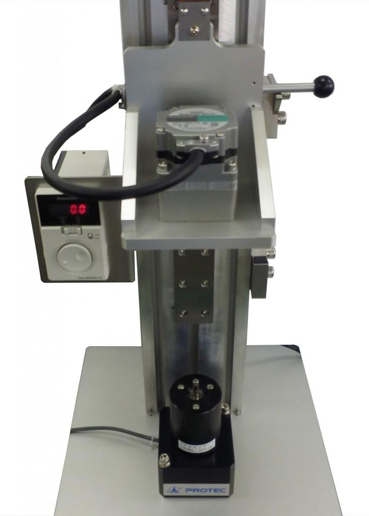 ダンパー・ヒンジトルク測定機の測定前の様子