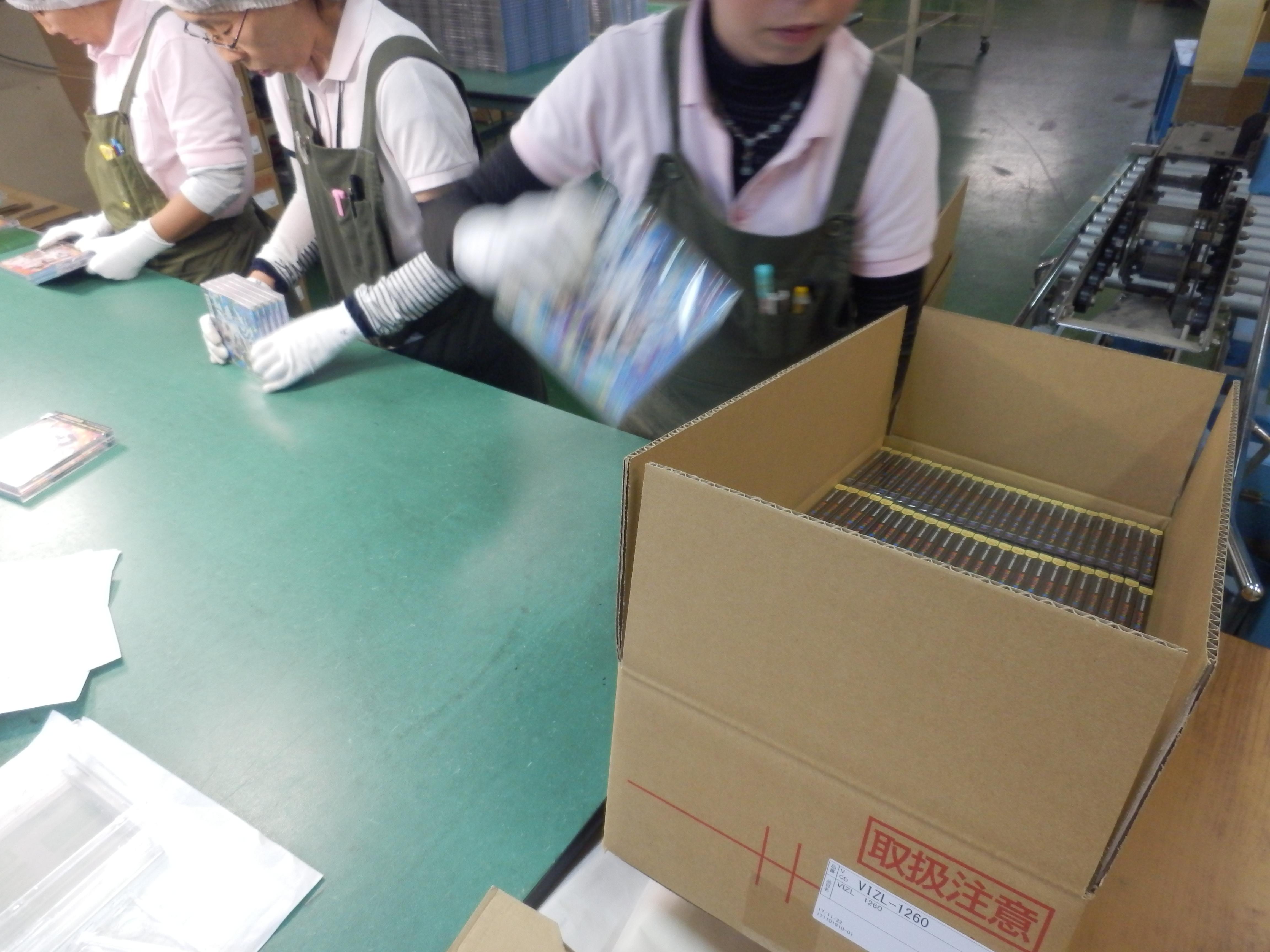 キャラメル包装の流れ⑧_梱包・出荷