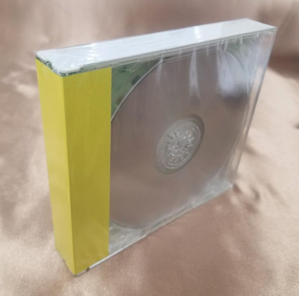キャラメル包装されたジュエルケース(CDケース)